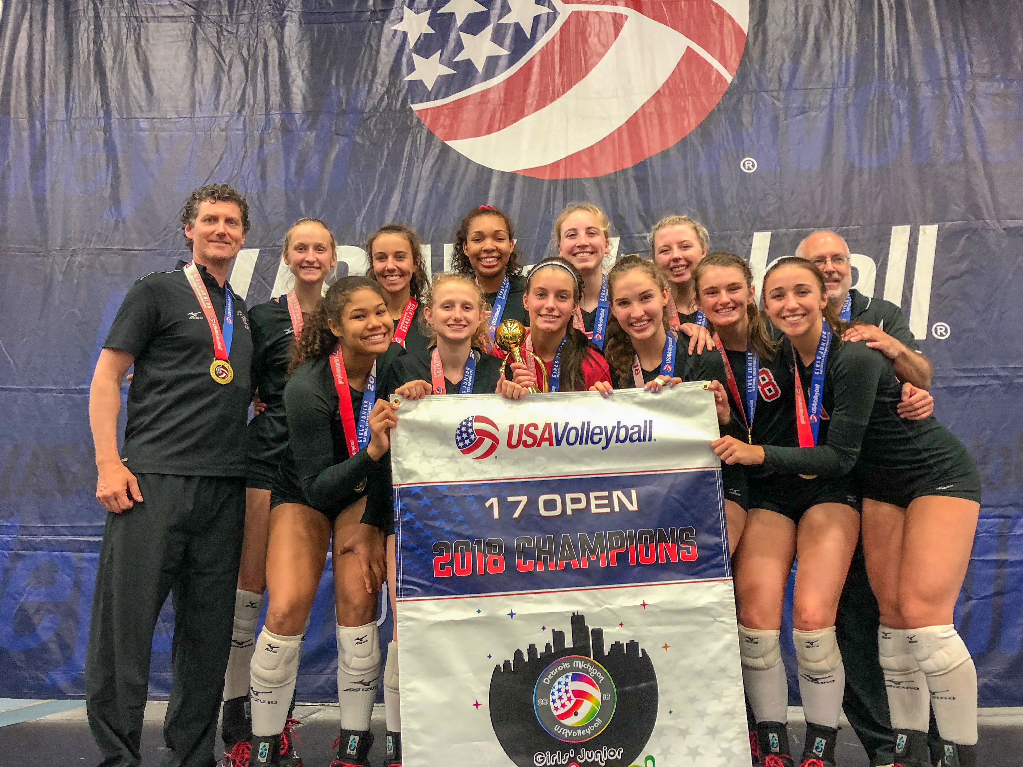 fb58514cf2 ... Division at the 2018 USA Volleyball Girls' Junior National  Championships! Congrats to Kyndra Hansen and Mari Hinkle on being named All  Tournament plus a ...